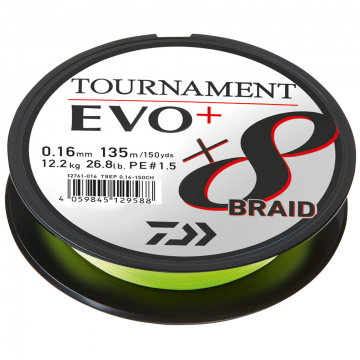 Daiwa Tournament Evo 8+ Chart 0,14mm 10,2kg 135m
