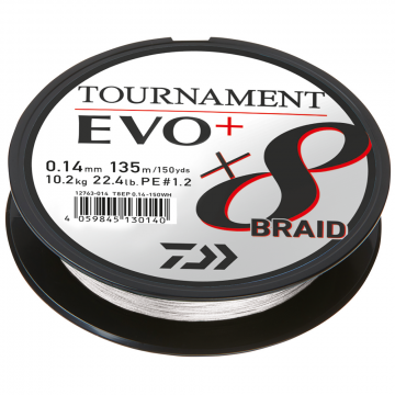 Daiwa Tournament Evo 8+ White 0,12mm 8,6kg 135m