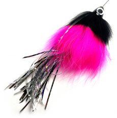 Spintube Pike Fast Sink 45g Pinkki Musta Hopea