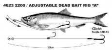 SPRO Säädettävä Dead Bait Rigi 30cm #6 6,8kg 2200