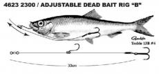 SPRO Säädettävä Dead Bait Rigi 30cm #4 9kg 2300