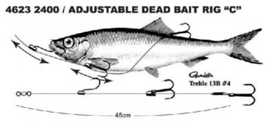 SPRO Säädettävä Dead Bait Rigi 45cm #4 13,6kg 2400