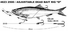 SPRO Säädettävä Dead Bait Rigi 45cm #2 13,6kg 2500