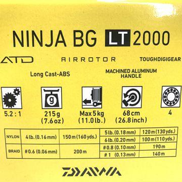 Daiwa Ninja BG LT 2000 Avokela