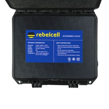 Rebelcell Li-Ion Akku 12V35A Kuljetuslaatikossa