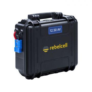 Rebelcell Li-Ion Akku 12V50A Kuljetuslaatikossa