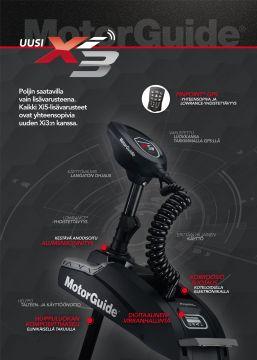 MotorGuide Xi3 FW 60'' 70lbs/24V GPS Sonar